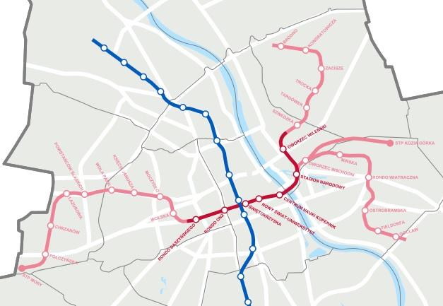 Plan stacji drugiej linii metra Bemowo Ratusz