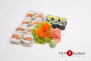 rodzaje sushi Uramaki i hosomaki