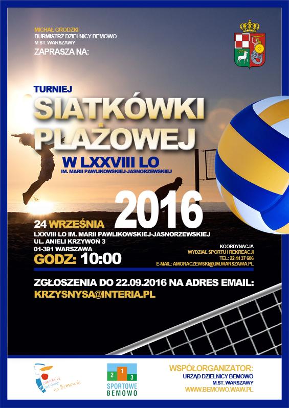 Siatkówka plażowa turniej na Bemowie