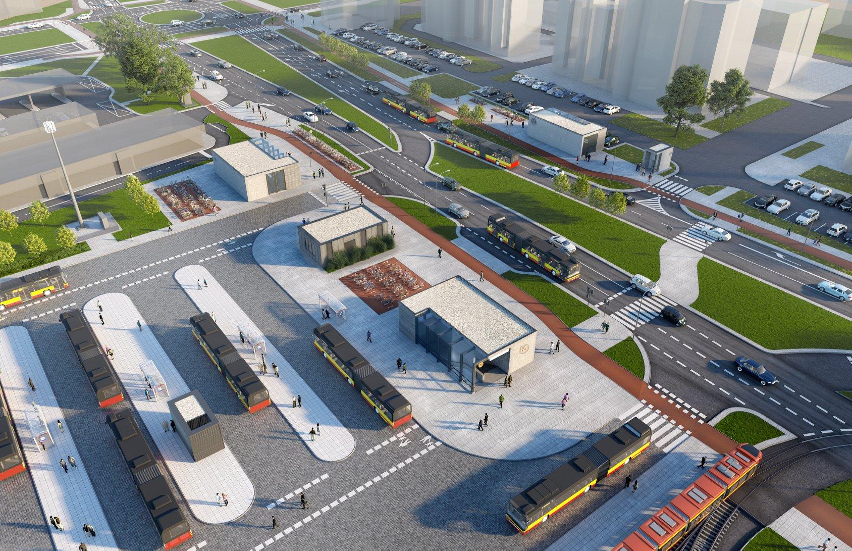 Wizualizacje trzech ostatnich stacji metra M2 Chrzanów, Lazurowa, Karolin